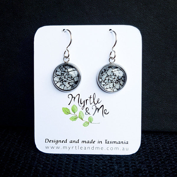 Coal On The Beach - Drop Earrings-Earrings-Myrtle & Me