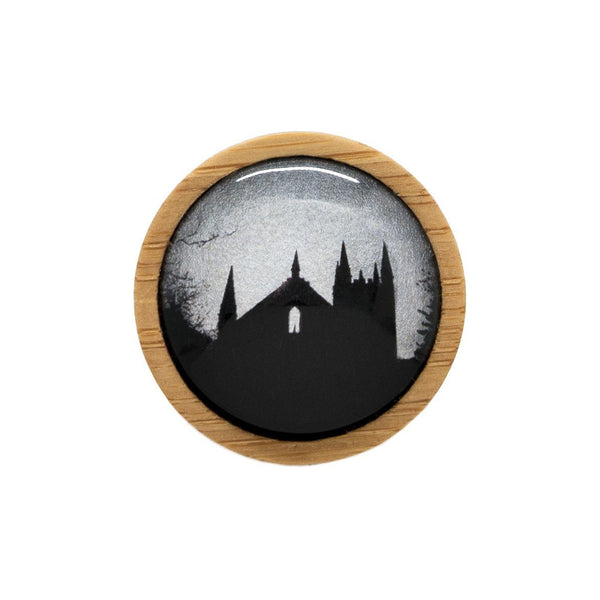 Convict Church - Brooch Handmade Bamboo Wooden Jewellery Myrtle & Me Tasmanian Design Eco Friendly Nature Gift