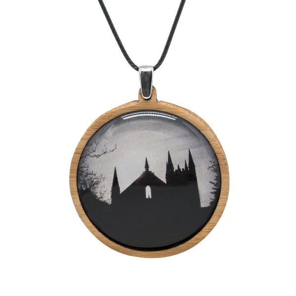 Convict Church - Pendant (Large) Bamboo Wooden Nature Jewellery Handmade in Tasmania Australia Myrtle & Me Eco Friendly Gift