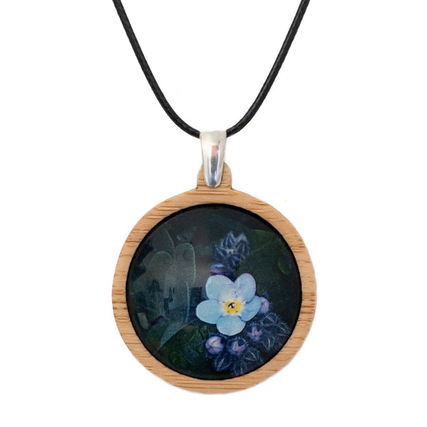 Forget Me Not - Pendant (Medium)-Pendant-Myrtle & Me