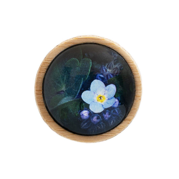 Forget Me Not - Brooch Handmade Bamboo Wooden Jewellery Myrtle & Me Tasmanian Design Eco Friendly Nature Gift