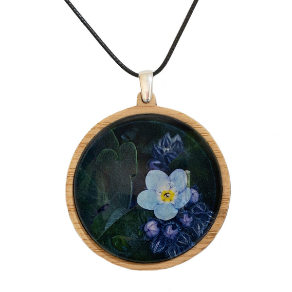 Forget Me Not - Pendant (Large) Bamboo Wooden Nature Jewellery Handmade in Tasmania Australia Myrtle & Me Eco Friendly Gift