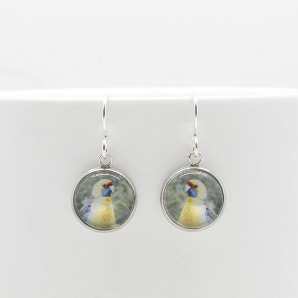 Green Rosella - Drop Earrings-Earrings-Myrtle & Me
