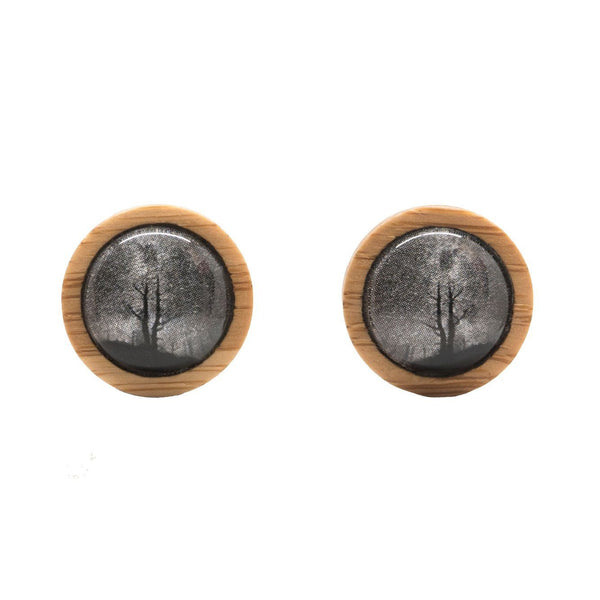 King Billy Pine - Stud Earrings-Earrings-Myrtle & Me