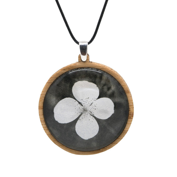 Leatherwood Flower - Pendant (Large) Bamboo Wooden Nature Jewellery Handmade in Tasmania Australia Myrtle & Me Eco Friendly Gift