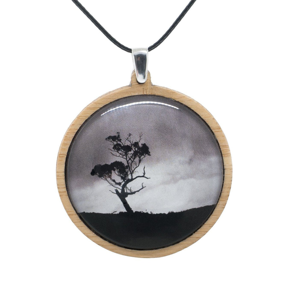 Gum Tree - Pendant - (Large) Bamboo Wooden Nature Jewellery Handmade in Tasmania Australia Myrtle & Me Eco Friendly Gift