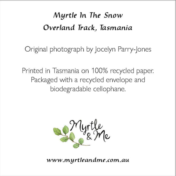 Myrtle In The Snow - Christmas Card-Card-Myrtle & Me