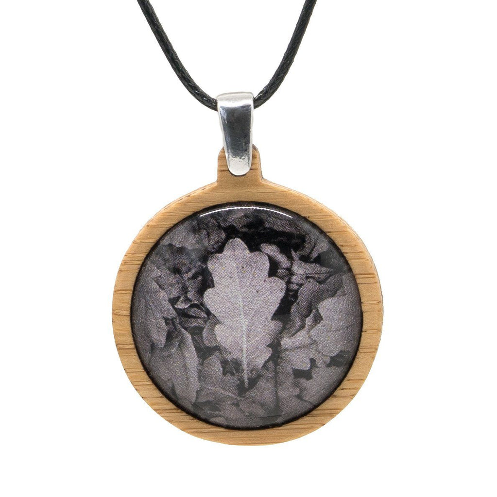 Oak Leaves - Pendant (Medium)-Pendant-Myrtle & Me