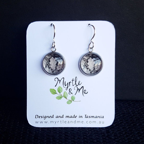 Oak Leaves - Drop Earrings-Earrings-Myrtle & Me