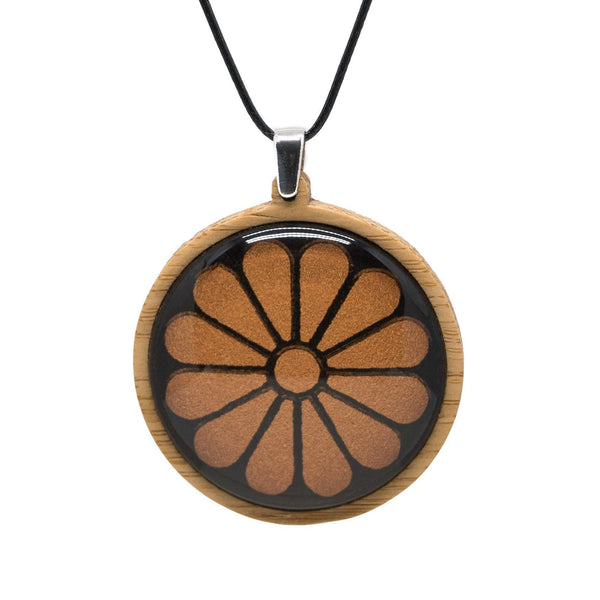 Separate Prison Chapel Window - Pendant (Large) Bamboo Wooden Nature Jewellery Handmade in Tasmania Australia Myrtle & Me Eco Friendly Gift