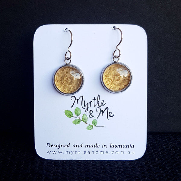Stone Flower - Drop Earrings-Earrings-Myrtle & Me