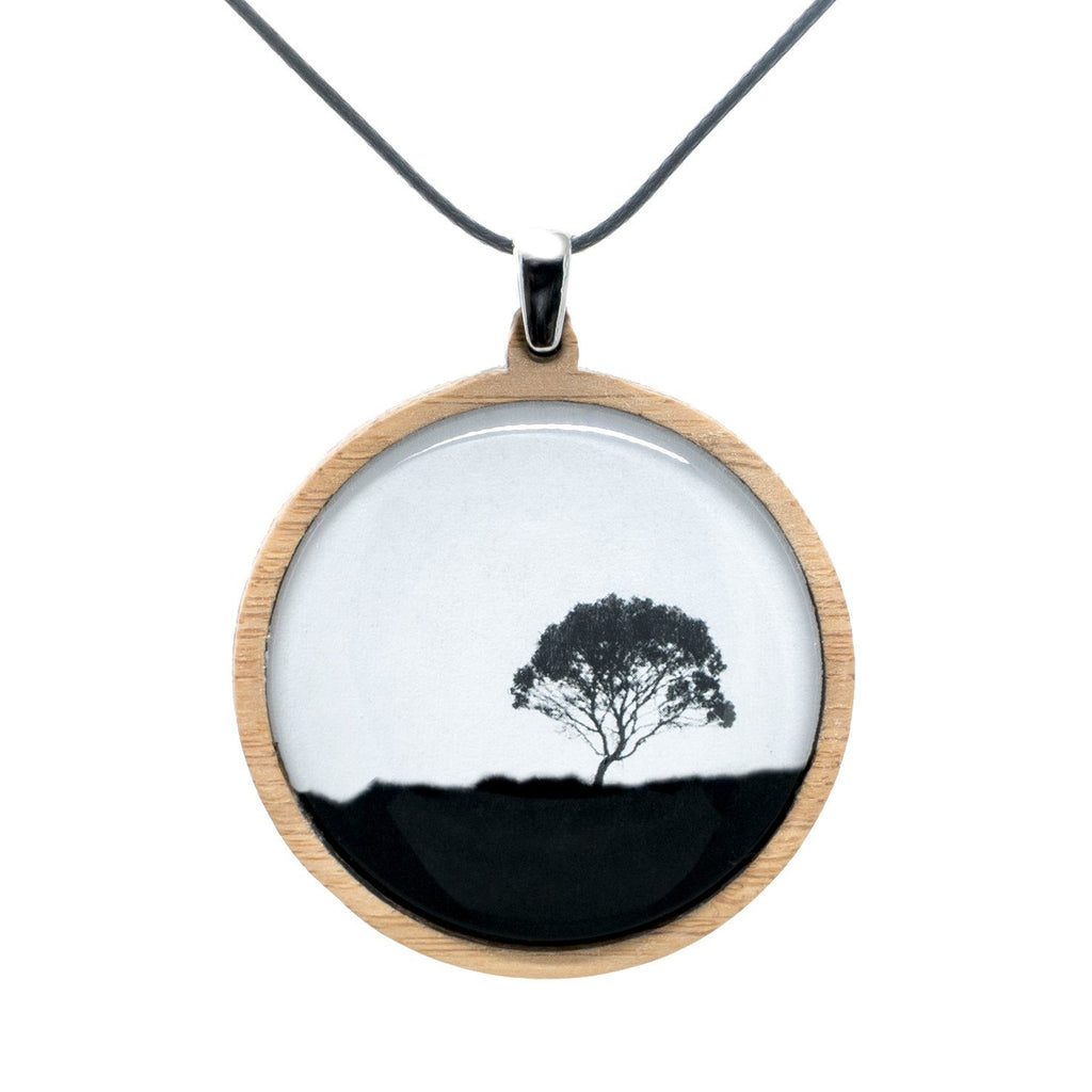 Tea Tree - Pendant (Large) Bamboo Wooden Nature Jewellery Handmade in Tasmania Australia Myrtle & Me Eco Friendly Gift