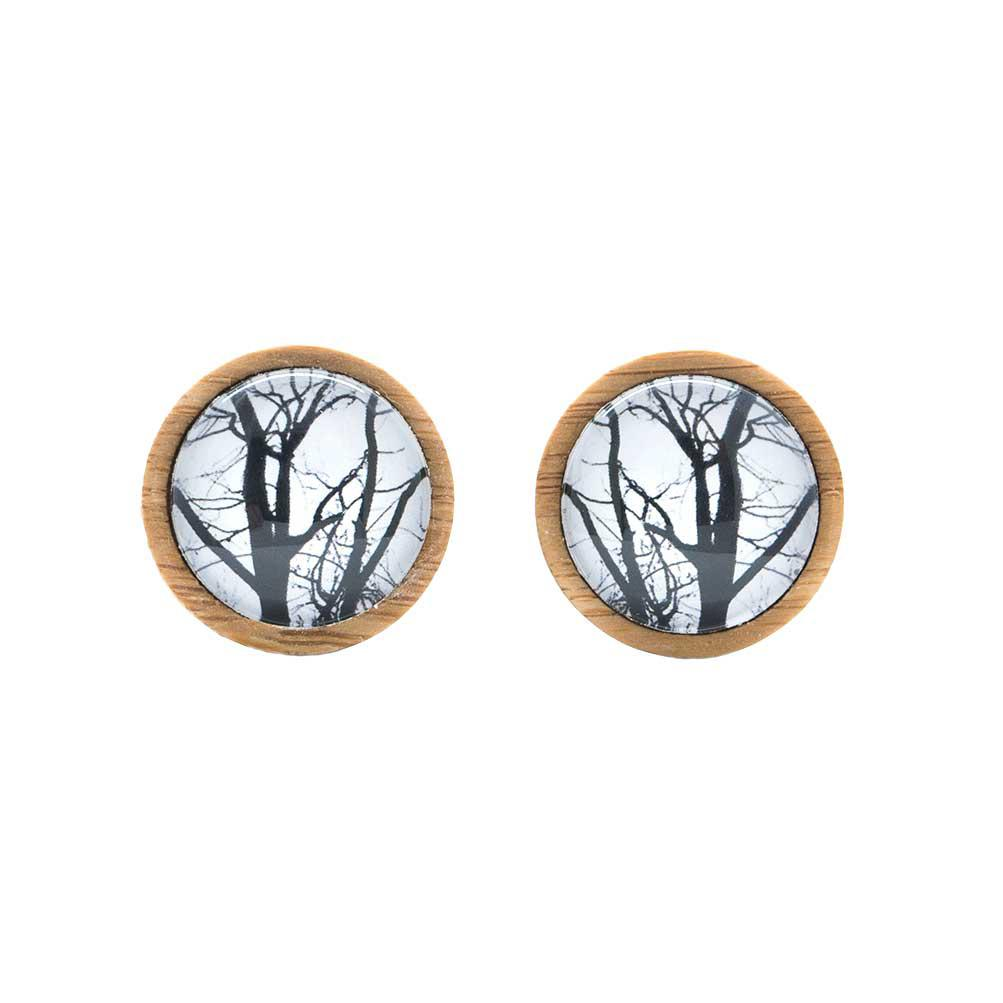 Winter Trees - Cufflinks Myrtle & Me Jewellery For Men Handmade In Tasmania