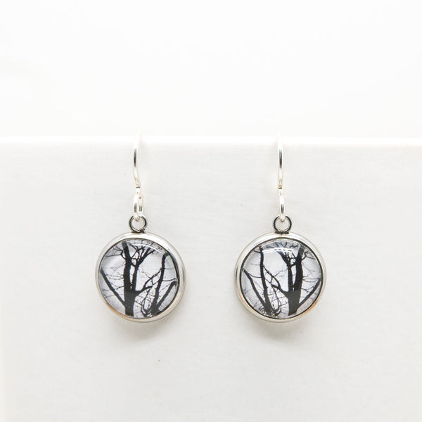 Winter Trees - Drop Earrings