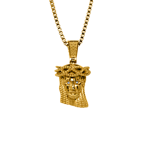 18K Yellow Gold Jesus Piece