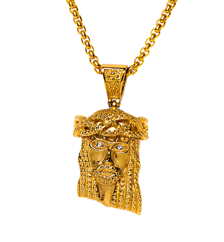 18K Yellow Gold Micro XL Jesus Piece