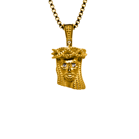 18K Yellow Gold Micro Jesus Piece