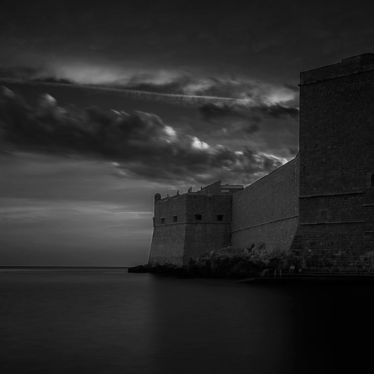 Dubrovnik Croatia Black and White