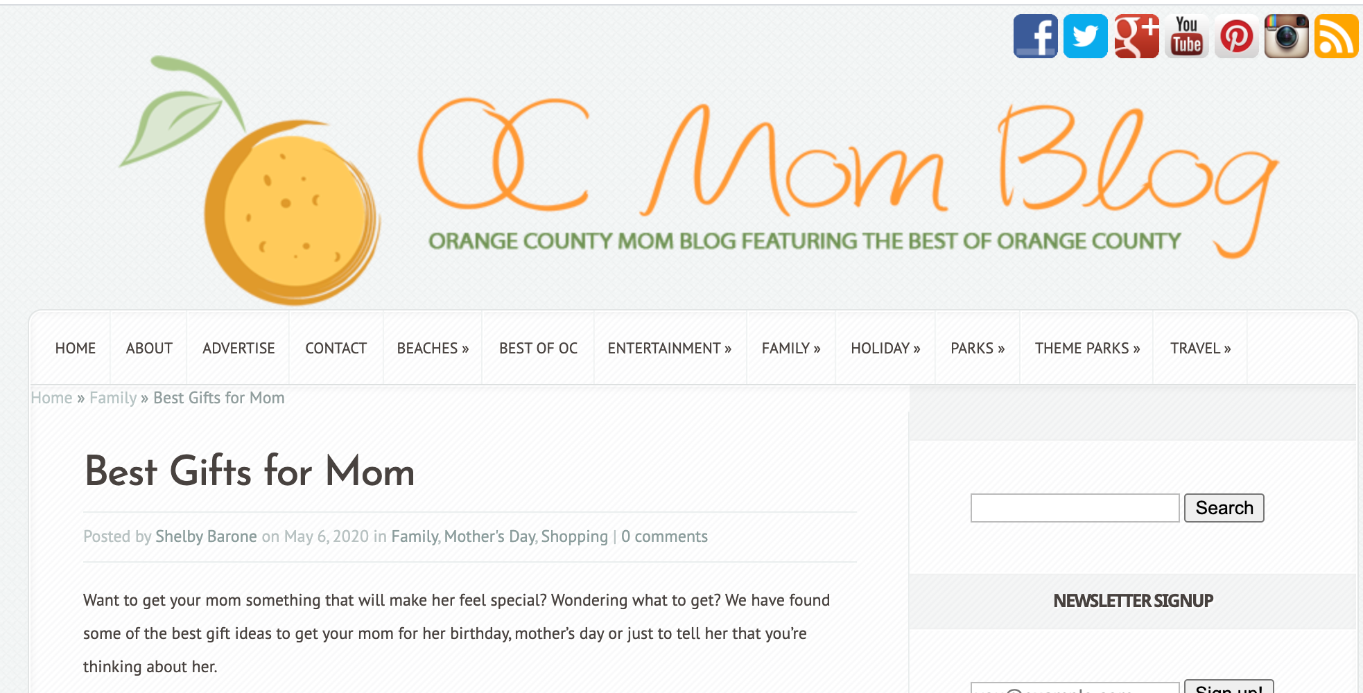 MEMEENO Featured in OC Mom Blog