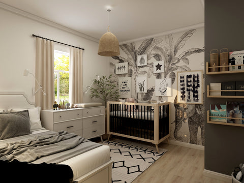 Nursery room with a shade of black
