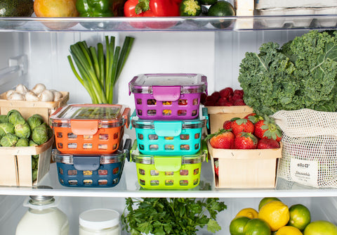 Fruits stored with veggies