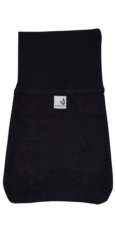 backside of black organic cotton black memeeno baby belly bloomer