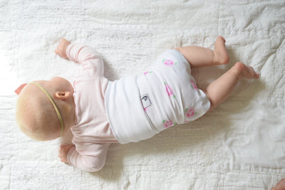 Organic Cotton Newborn Belly Bloomer for Girls- gas and colic - Roses - MEMEENO