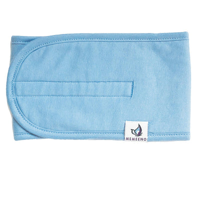 memeeno Baby belly band for belly button colic, gas, colic remedy white for boy or girl