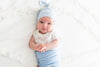 Newborn Top Knot Hat - Sky