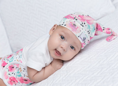 Newborn Top Knot Hat - Bloom - MEMEENO