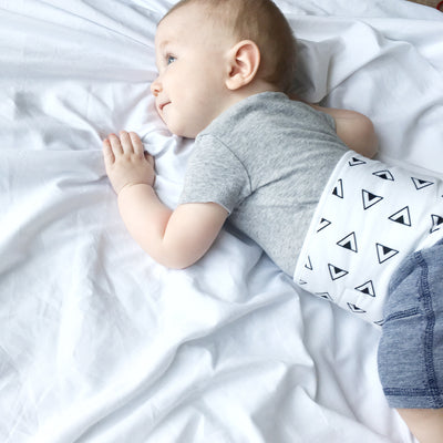 Baby Belly Band - Black Triangles - MEMEENO