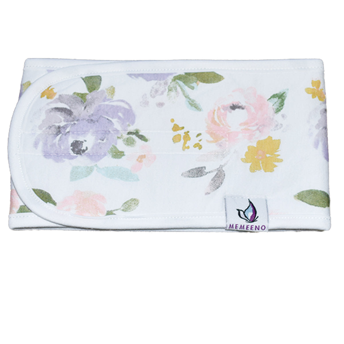 product photo of organic cotton baby belly band darling, with florals