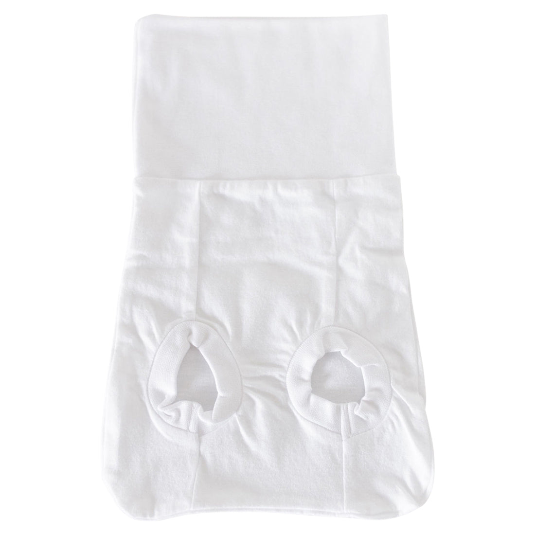 product photo of white organic cotton memeeno baby belly bloomer