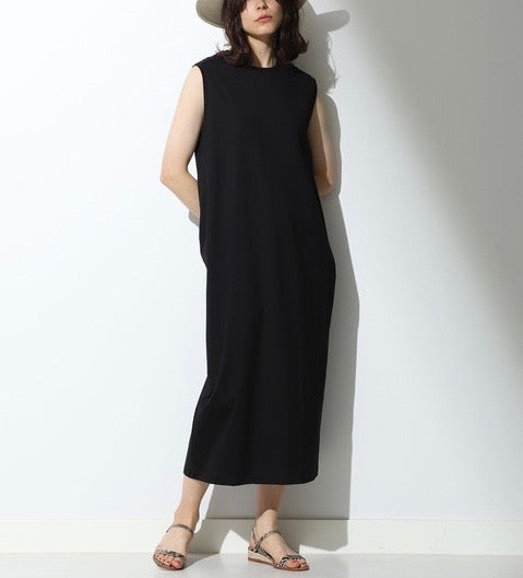 ATON Suvin Tank Dress in Black