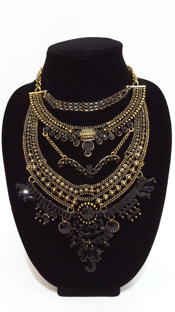 Black 'Tribal' Necklace
