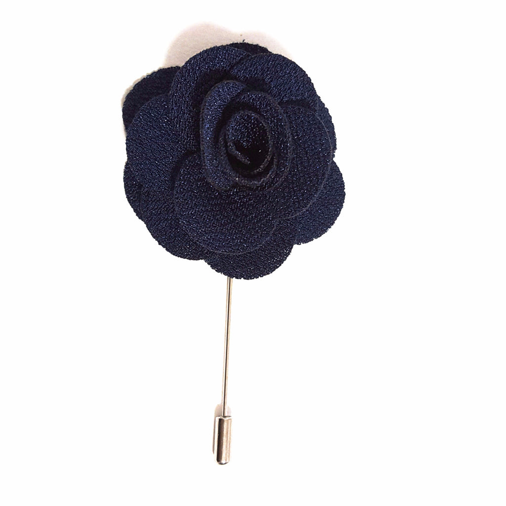 Navy Blue 'Flower' Lapel Pin