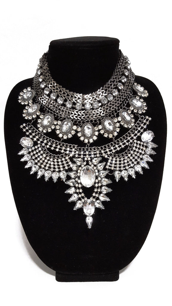 Gunmetal 'Diva' Necklace