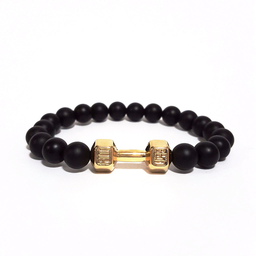 Gold 'Do You Even Lift?' Bracelet