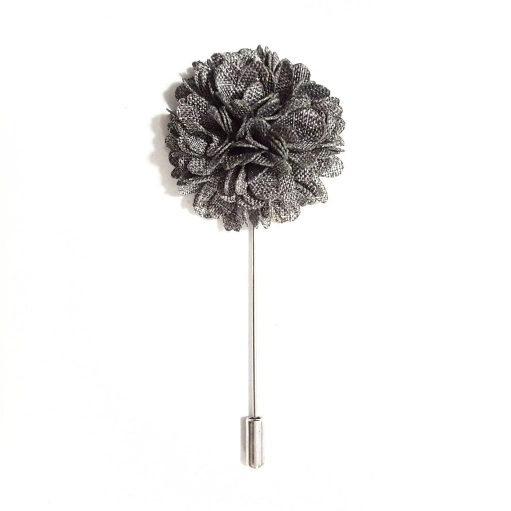 Grey 'Bloom' Lapel Pin