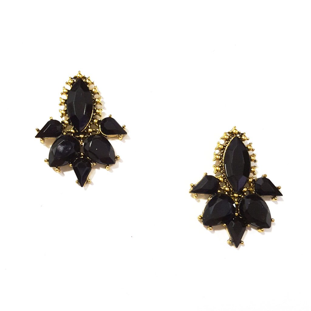 Black 'Entice' Earrings