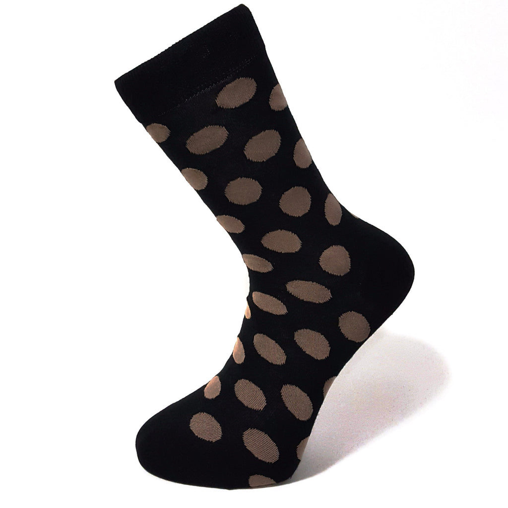 Black & Grey Polka Dot Socks