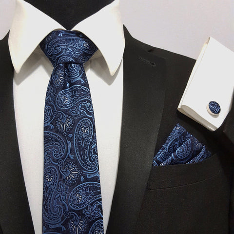 'Blue & Black Paisley' Combo