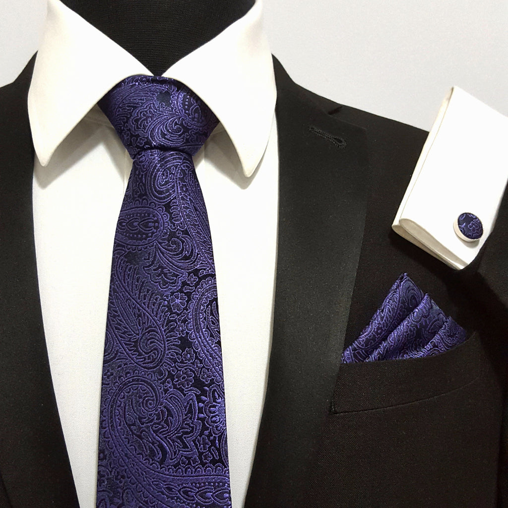 'Dark Purple Paisley' Combo