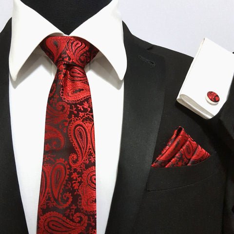 'Red & Black Paisley' Combo