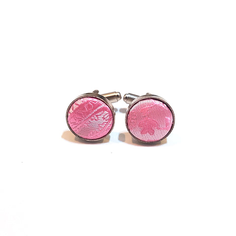 Light Pink Paisley Cufflinks