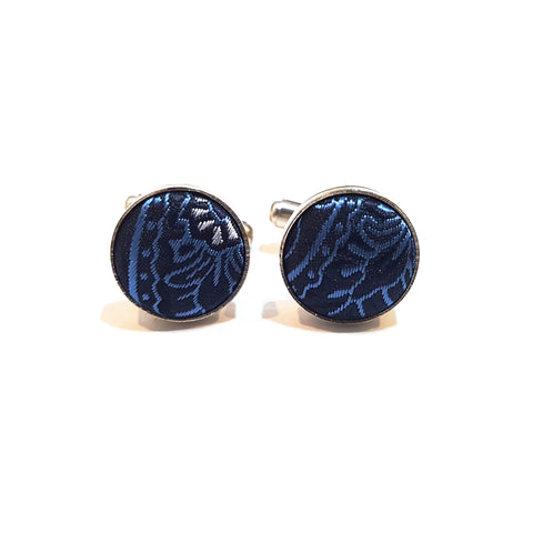 Blue & Black Paisley Cufflinks