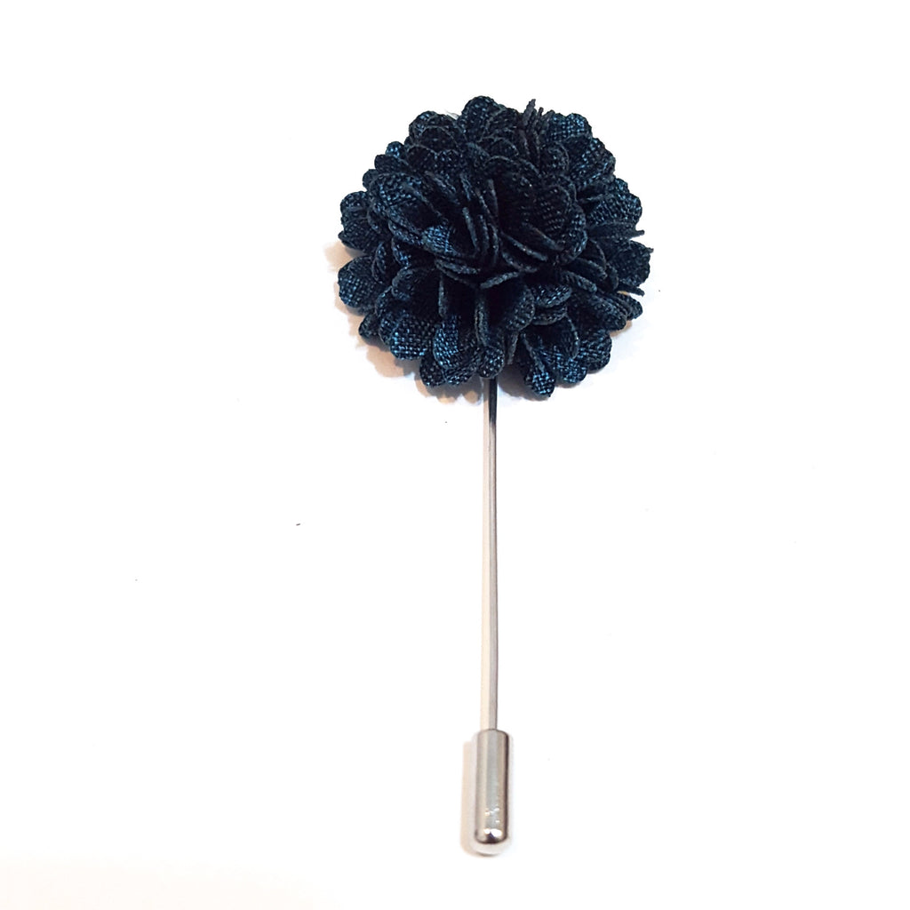 Dark Teal 'Bloom' Lapel Pin