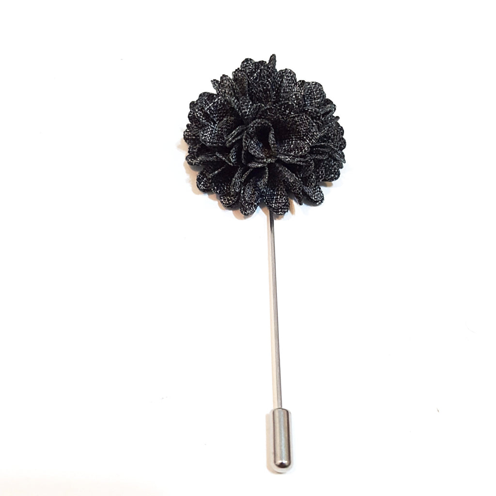 Dark Grey 'Bloom' Lapel Pin