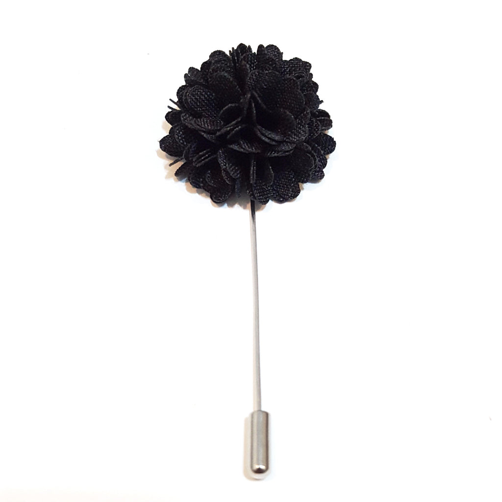 Black 'Bloom' Lapel Pin