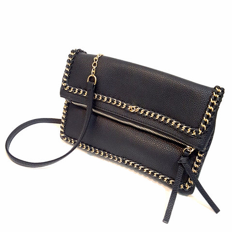 Black Zipper Clutch
